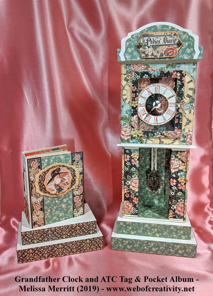 Grandfather Clock and ATC Tag & Pocket Mini Album 23